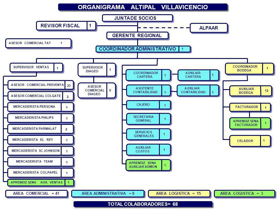 ORGANIGRAMA ALTIPAL VILLAVICENCIO