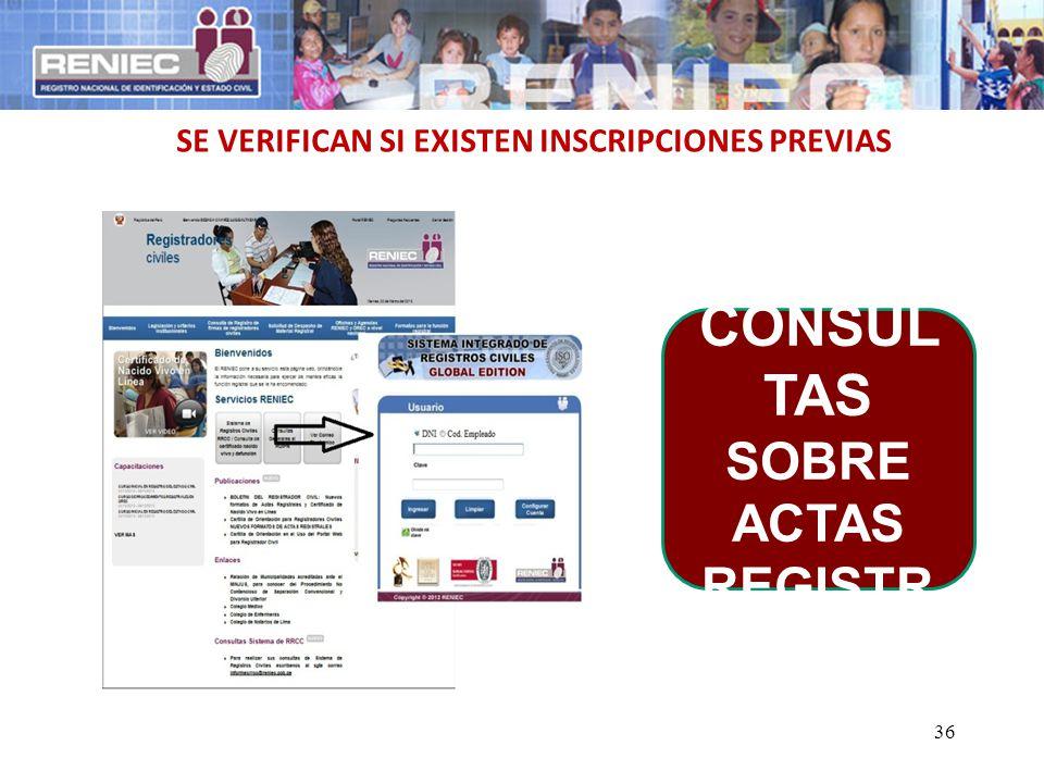 3390 CONSULTAS SOBRE ACTAS REGISTRALES