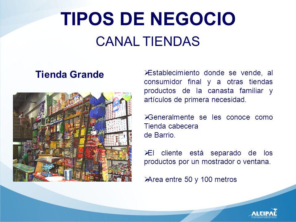 TIPOS DE NEGOCIO CANAL TIENDAS Tienda Grande