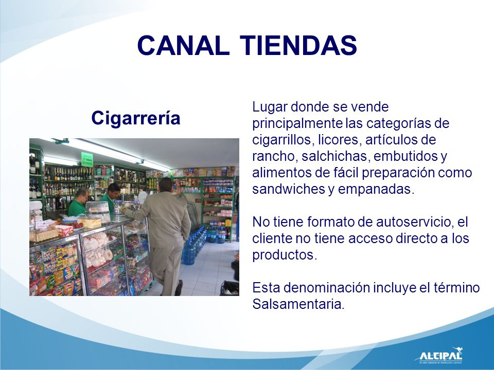CANAL TIENDAS Cigarrería