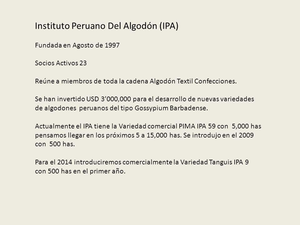 Instituto Peruano Del Algodón (IPA)