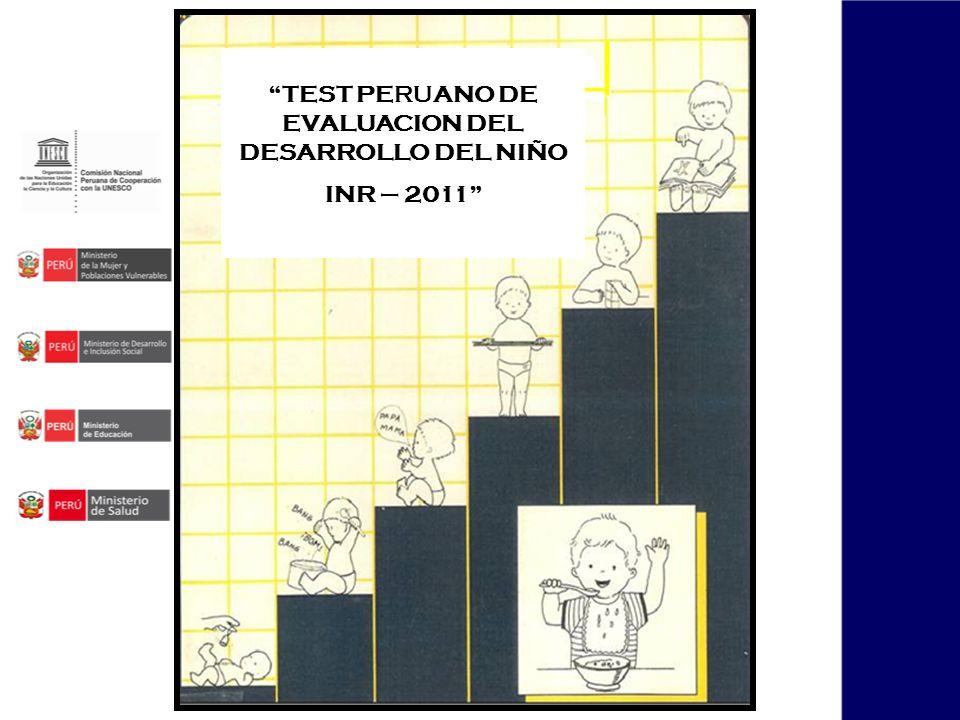 TEST PERUANO DE EVALUACION DEL DESARROLLO DEL NIÑO