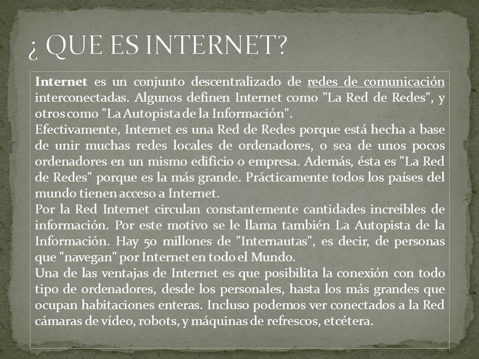 ¿ QUE ES INTERNET