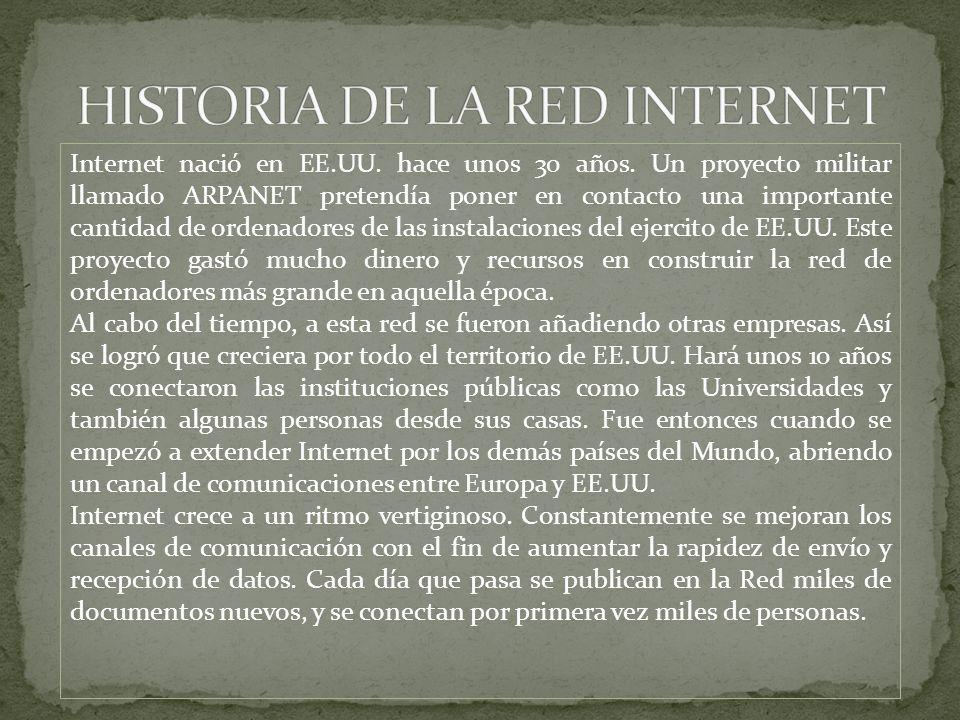 HISTORIA DE LA RED INTERNET