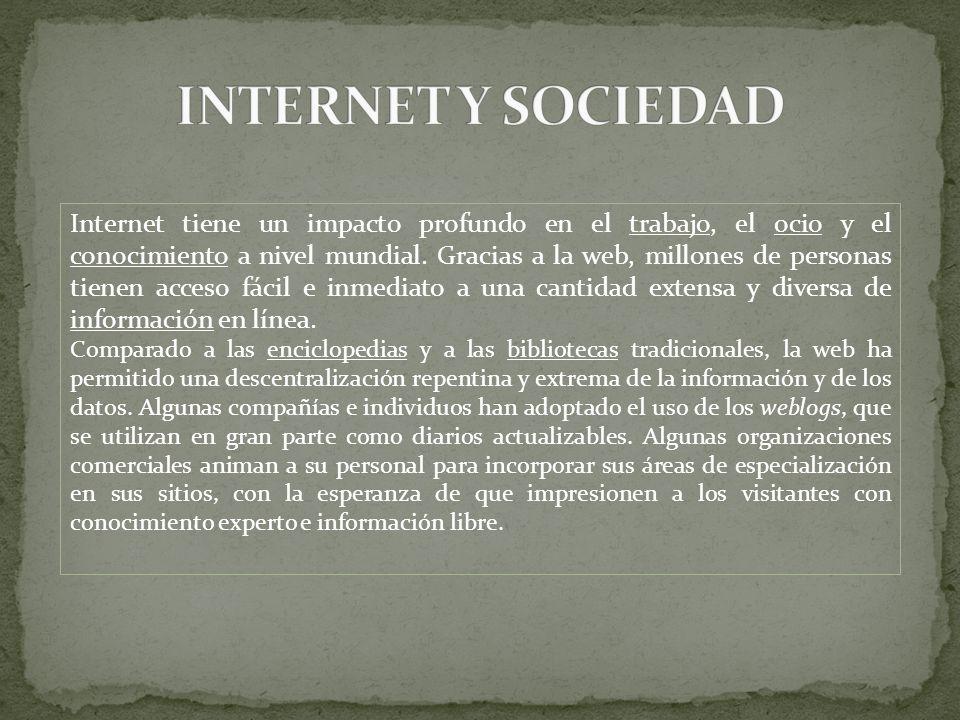 INTERNET Y SOCIEDAD