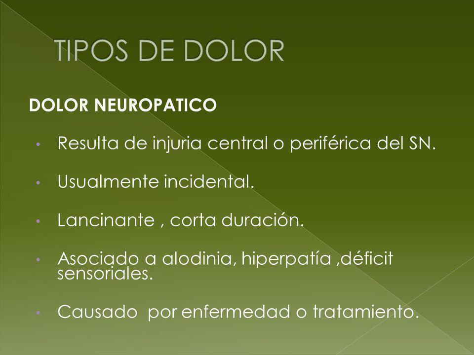 TIPOS DE DOLOR DOLOR NEUROPATICO