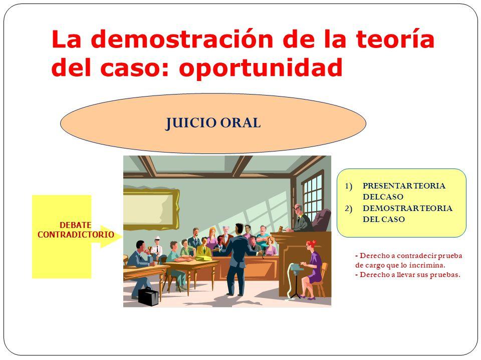 La demostración de la teoría del caso: oportunidad