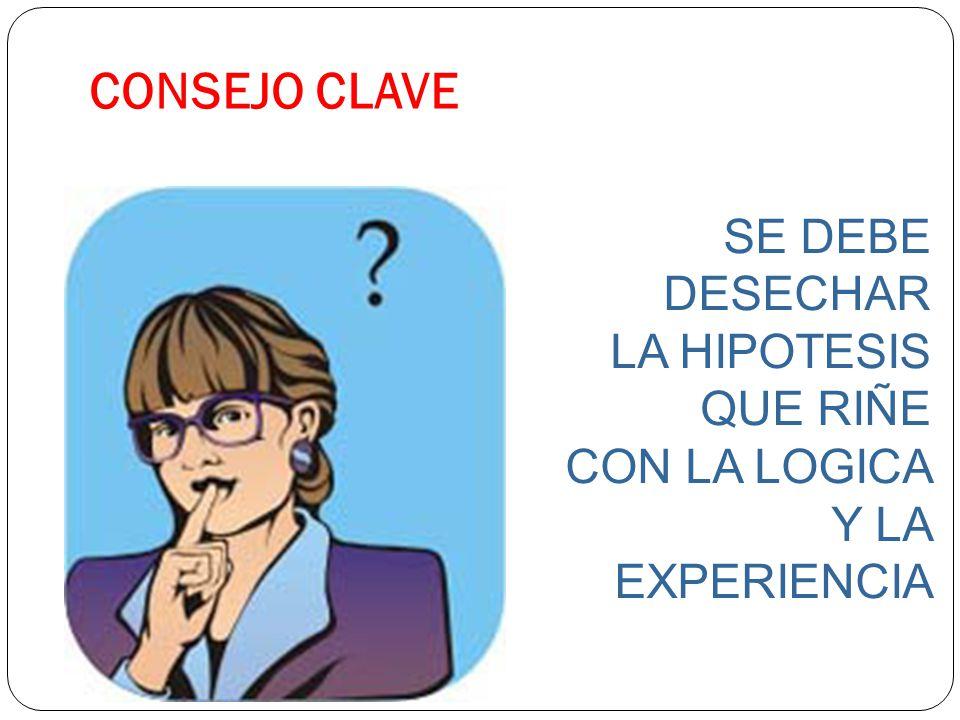 CONSEJO CLAVE SE DEBE DESECHAR LA HIPOTESIS QUE RIÑE