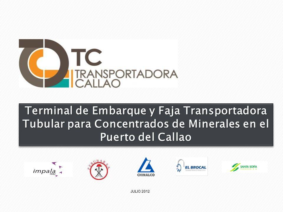 Terminal de Embarque y Faja Transportadora Tubular para Concentrados de Minerales en el Puerto del Callao