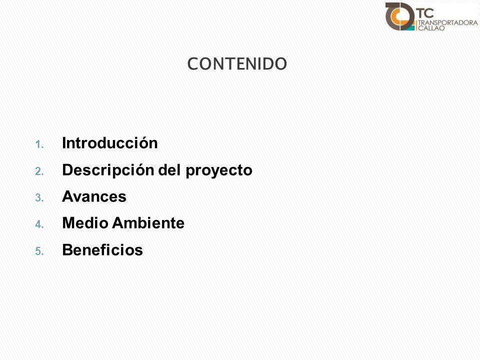CONTENIDO Introducción Descripción del proyecto Avances Medio Ambiente
