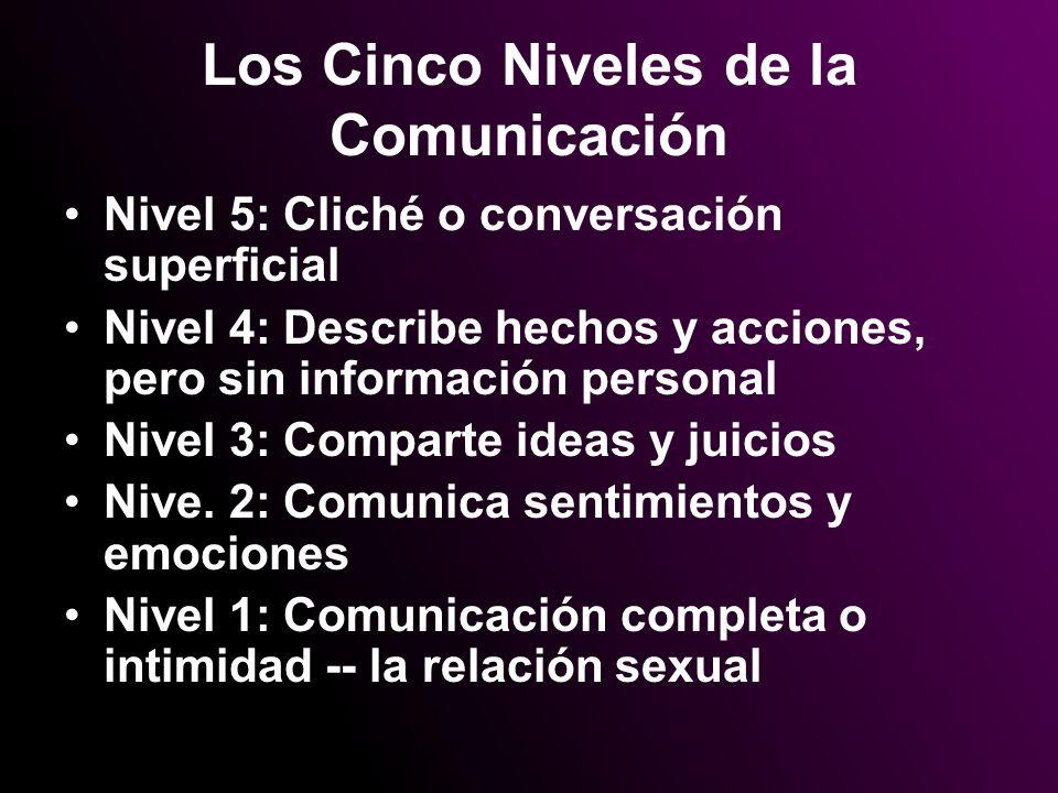 Los Cinco Niveles de la Comunicación