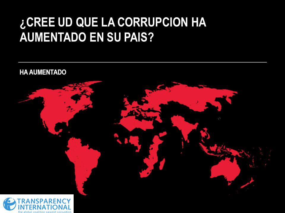 ¿CREE UD QUE LA CORRUPCION HA AUMENTADO EN SU PAIS