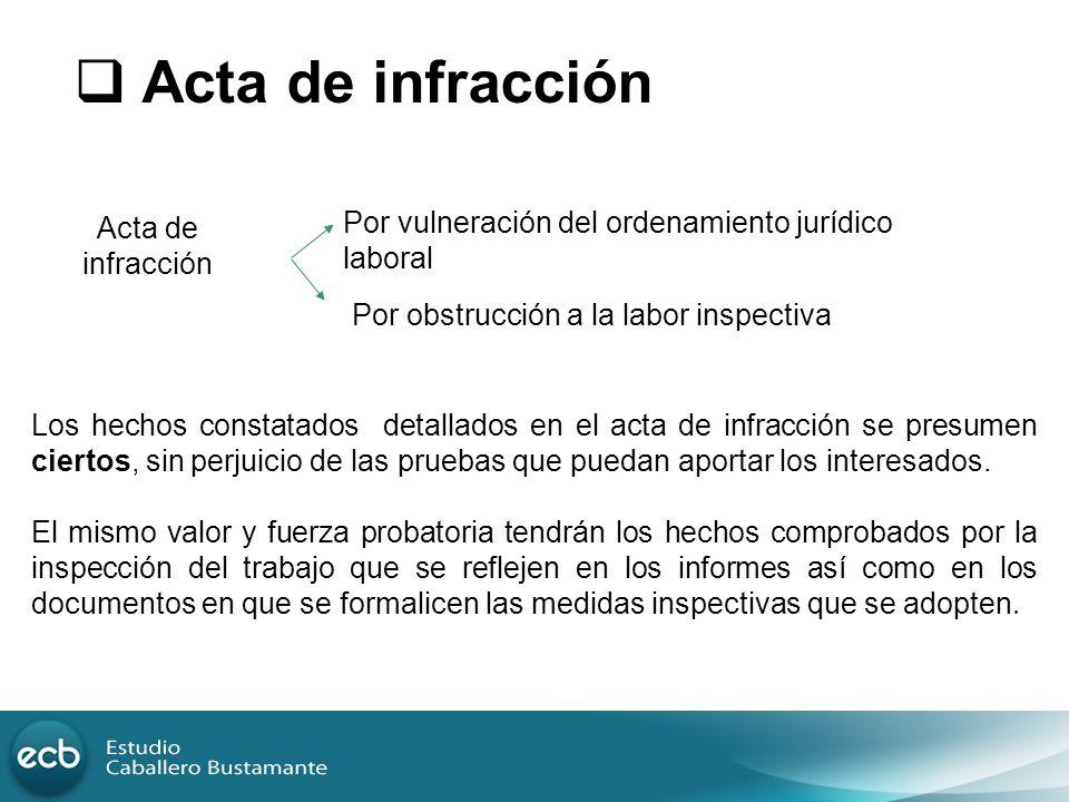 Acta de infracción Acta de infracción