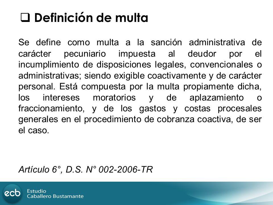 Definición de multa