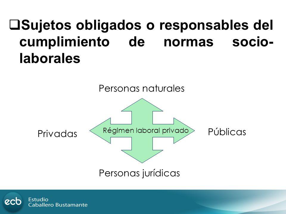 Sujetos obligados o responsables del cumplimiento de normas socio-laborales