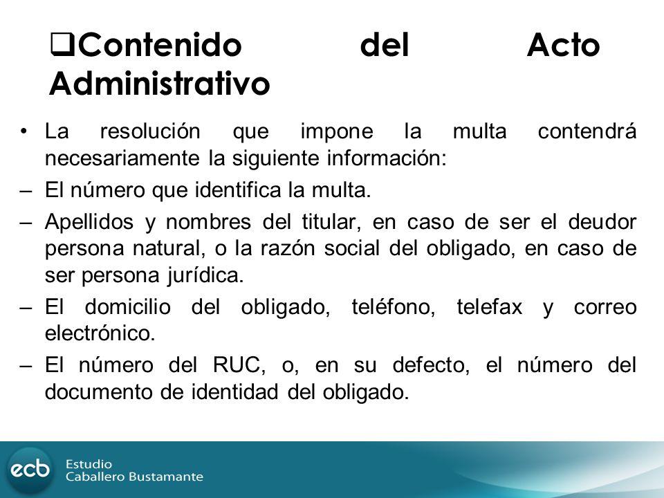 Contenido del Acto Administrativo