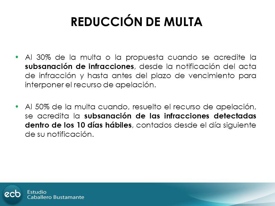 REDUCCIÓN DE MULTA