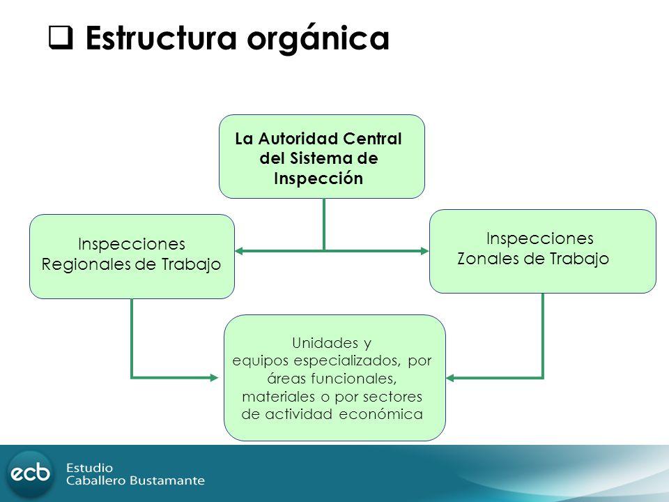 La Autoridad Central del Sistema de Inspección