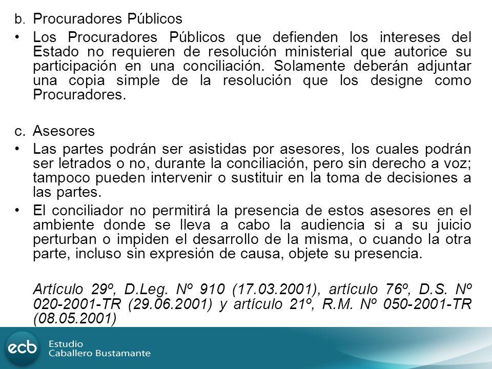 b. Procuradores Públicos