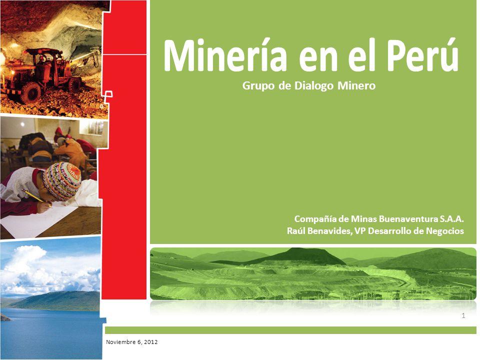 Minería en el Perú Grupo de Dialogo Minero