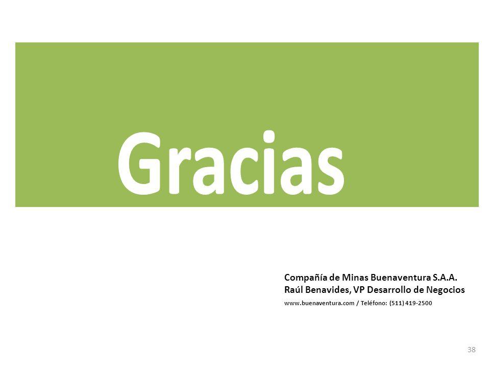 Gracias Compañía de Minas Buenaventura S.A.A.