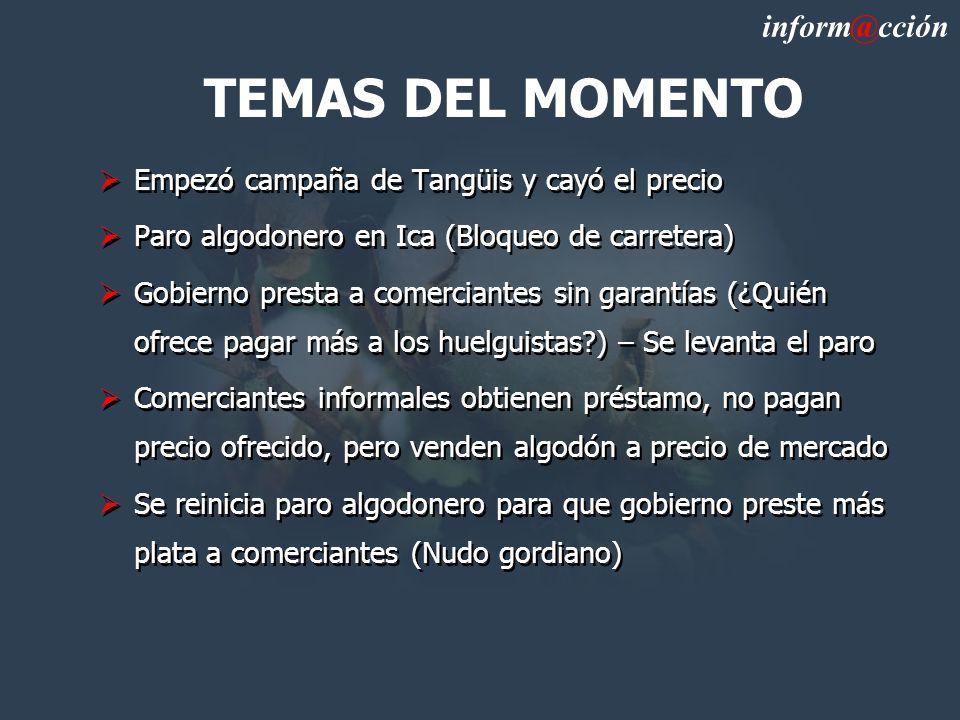 TEMAS DEL MOMENTO inform@cción