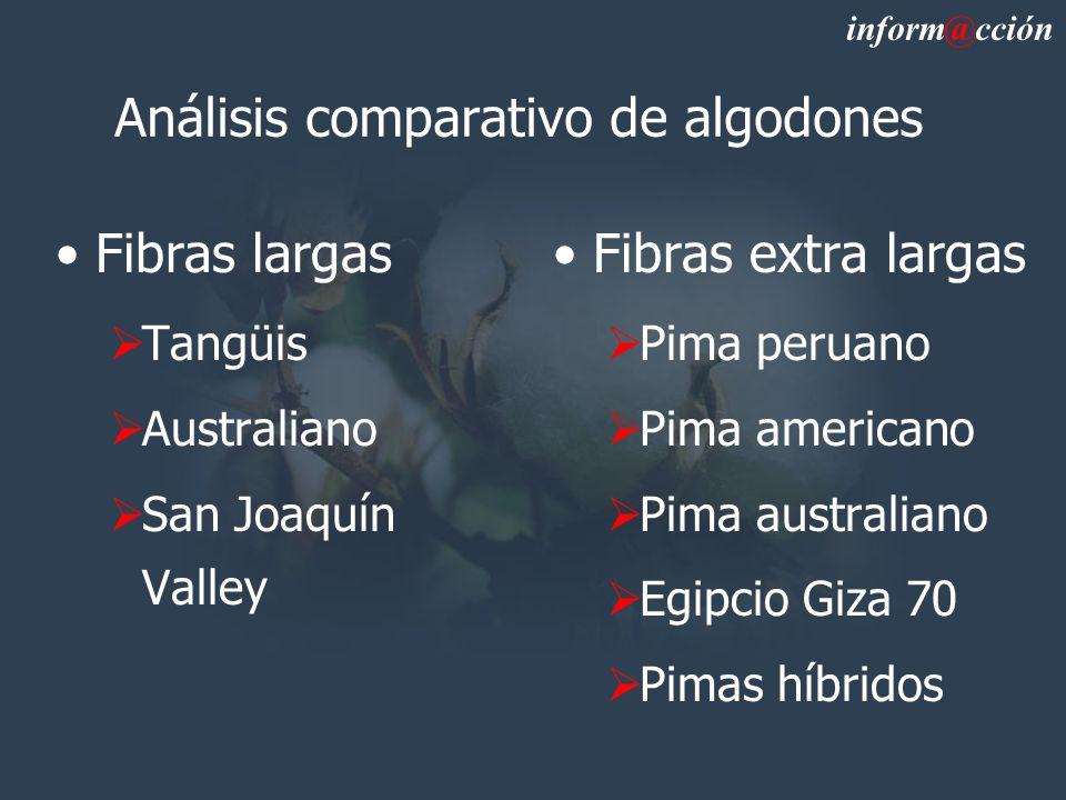 Análisis comparativo de algodones