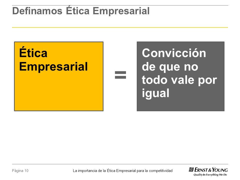 Definamos Ética Empresarial