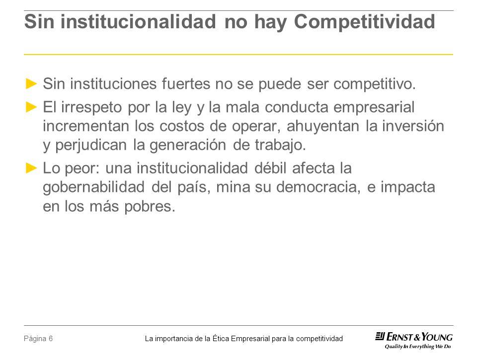 Sin institucionalidad no hay Competitividad