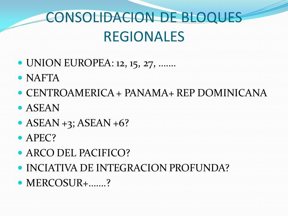 CONSOLIDACION DE BLOQUES REGIONALES