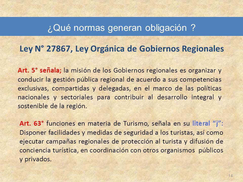 Ley N° 27867, Ley Orgánica de Gobiernos Regionales