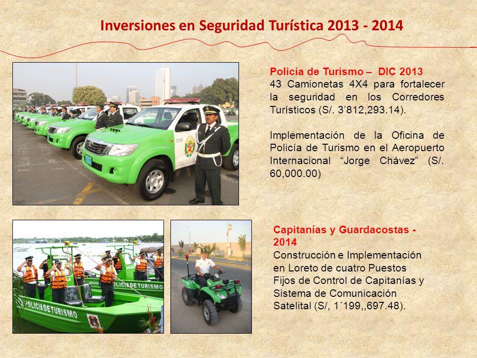 Inversiones en Seguridad Turística 2013 - 2014