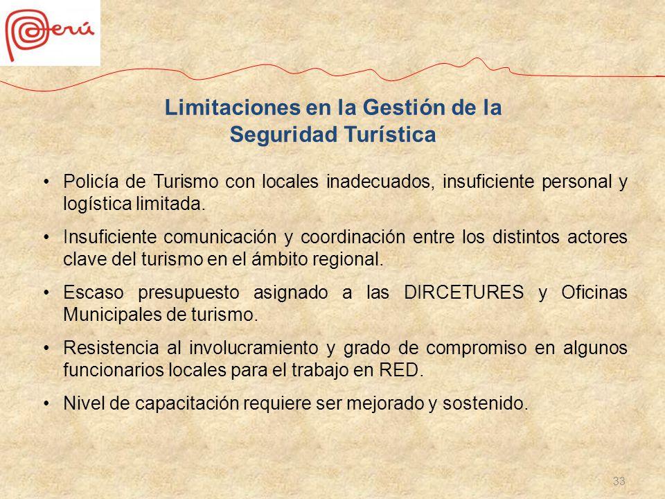 Limitaciones en la Gestión de la Seguridad Turística