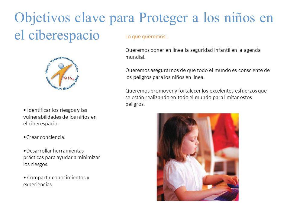 Objetivos clave para Proteger a los niños en el ciberespacio