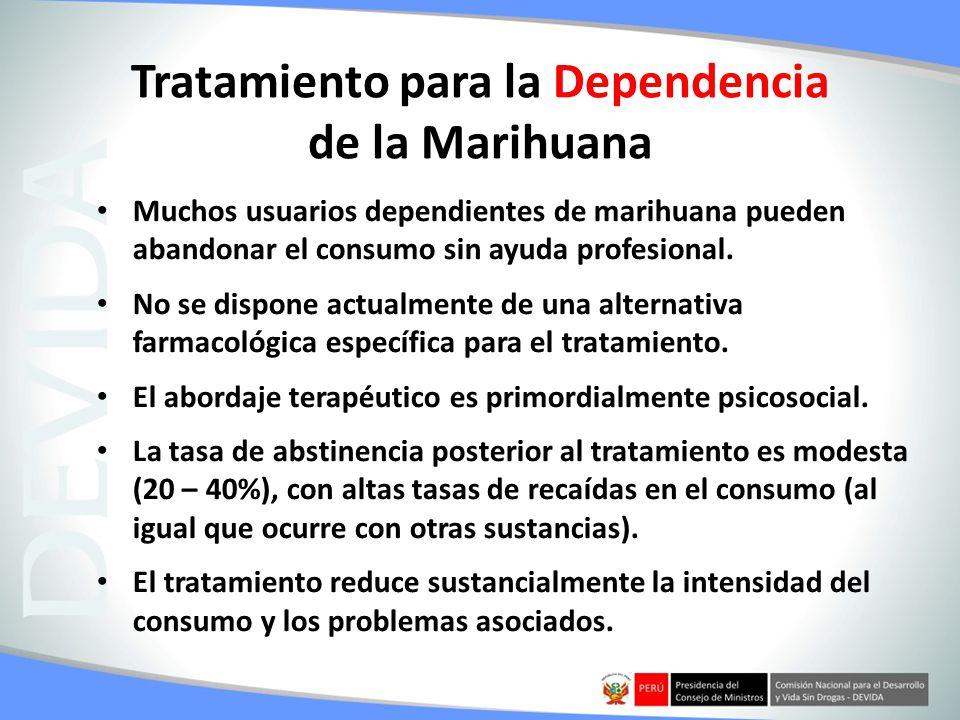 Tratamiento para la Dependencia de la Marihuana