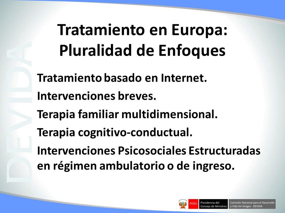Tratamiento en Europa: Pluralidad de Enfoques