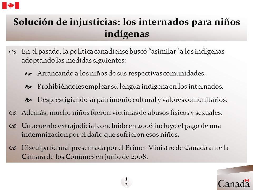 Solución de injusticias: los internados para niños indígenas