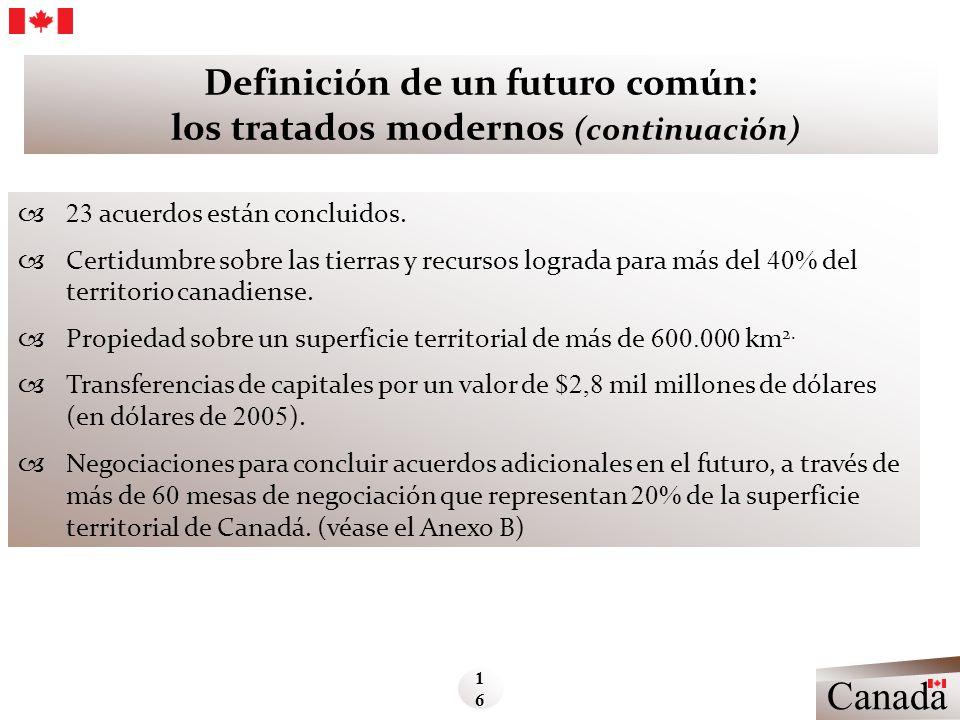 Definición de un futuro común: los tratados modernos (continuación)