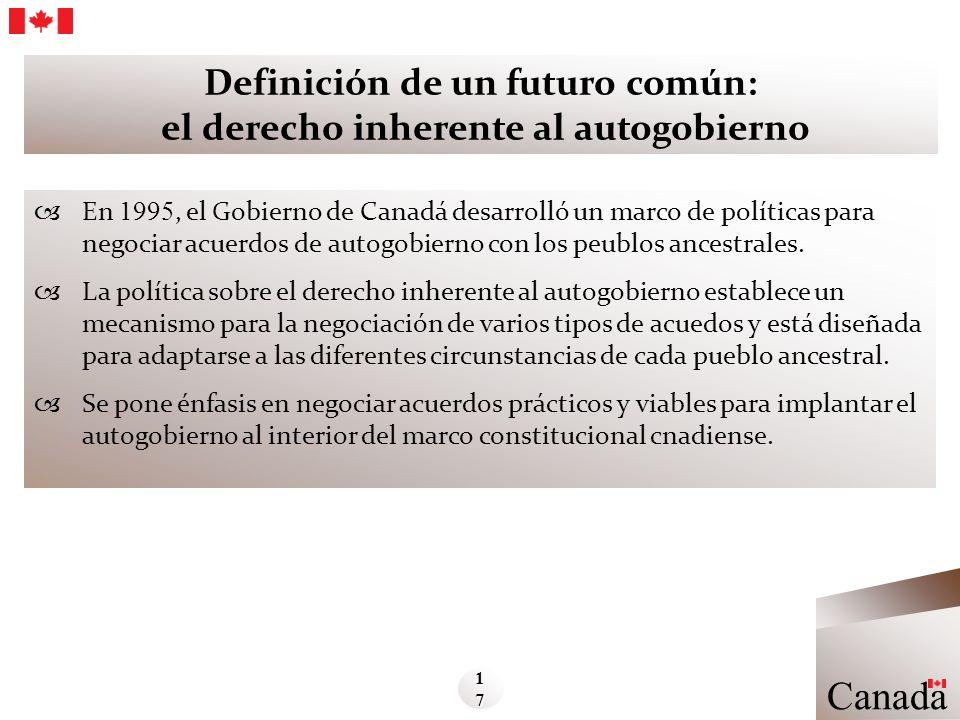 Definición de un futuro común: el derecho inherente al autogobierno