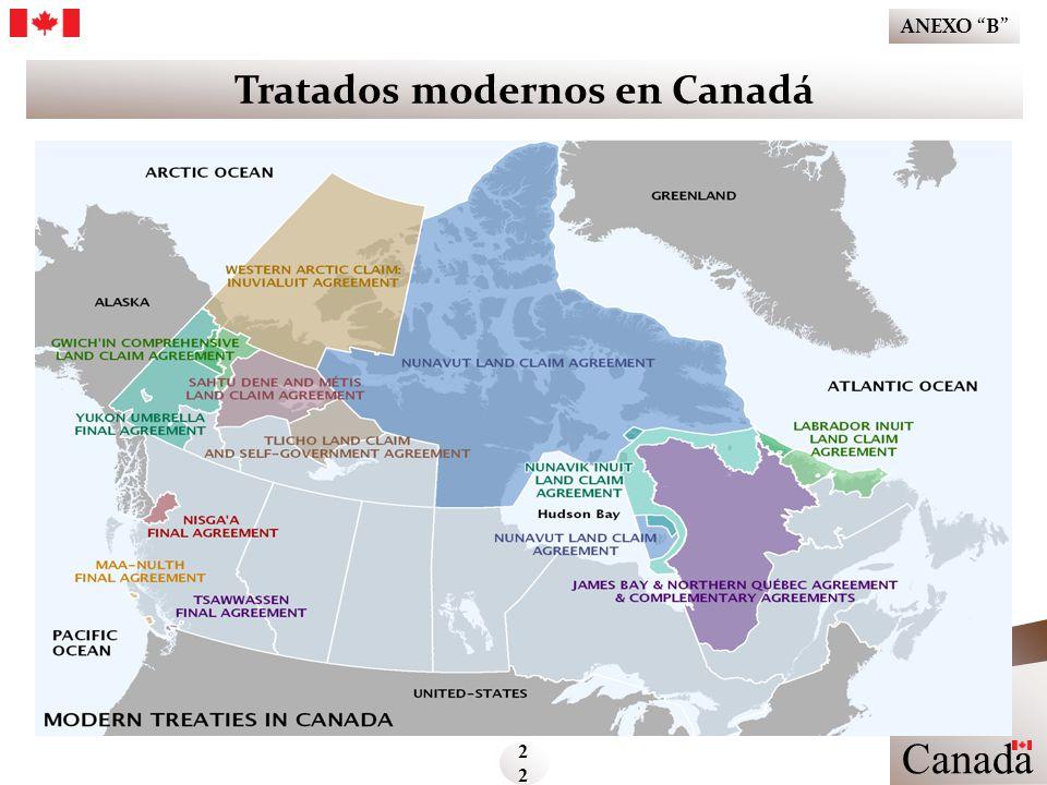 Tratados modernos en Canadá