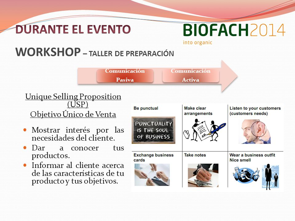 WORKSHOP – TALLER DE PREPARACIÓN