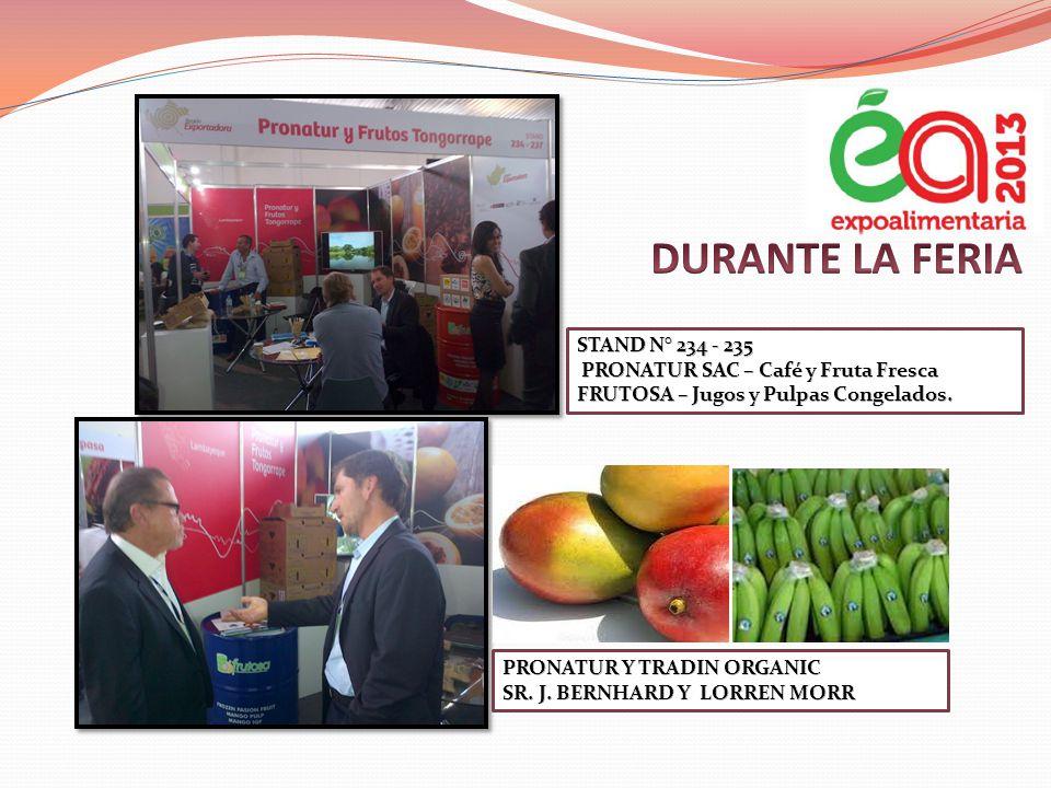 DURANTE LA FERIA STAND N° 234 - 235 PRONATUR SAC – Café y Fruta Fresca