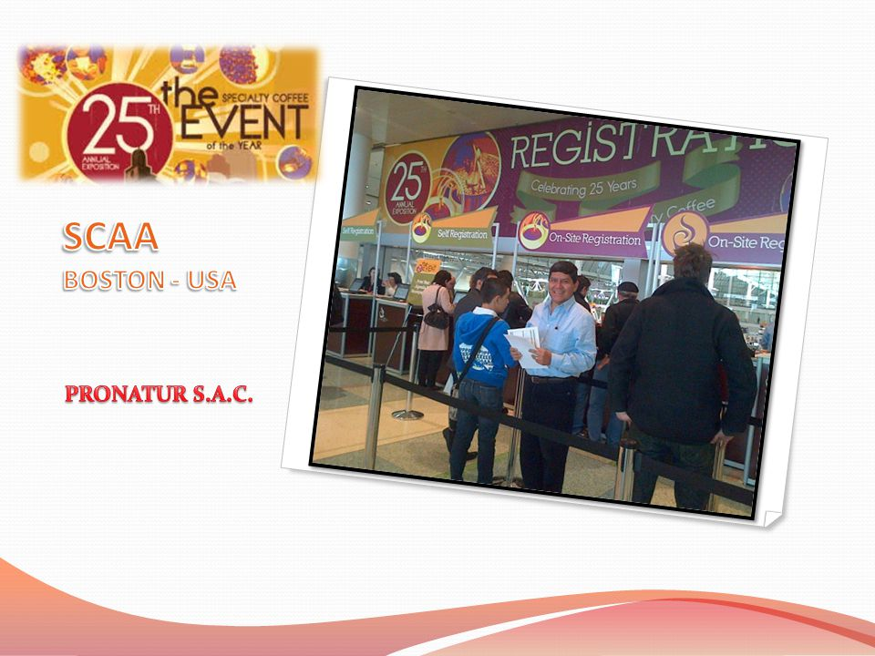 SCAA BOSTON - USA PRONATUR S.A.C.