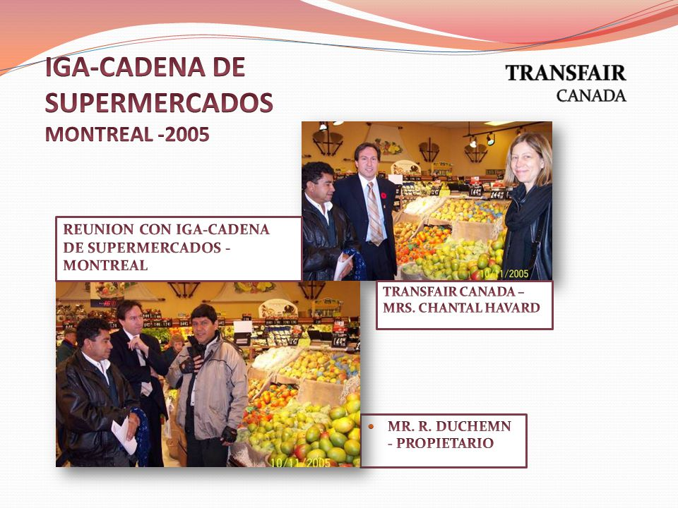 IGA-CADENA DE SUPERMERCADOS MONTREAL -2005