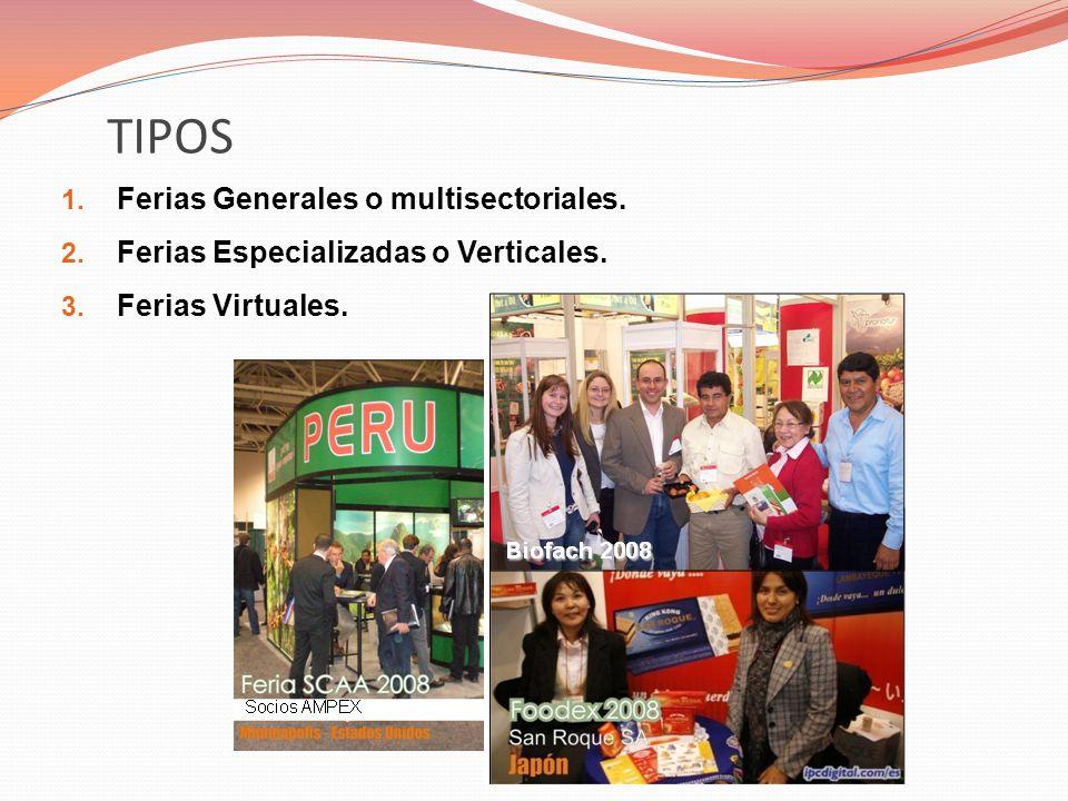 TIPOS Ferias Generales o multisectoriales.
