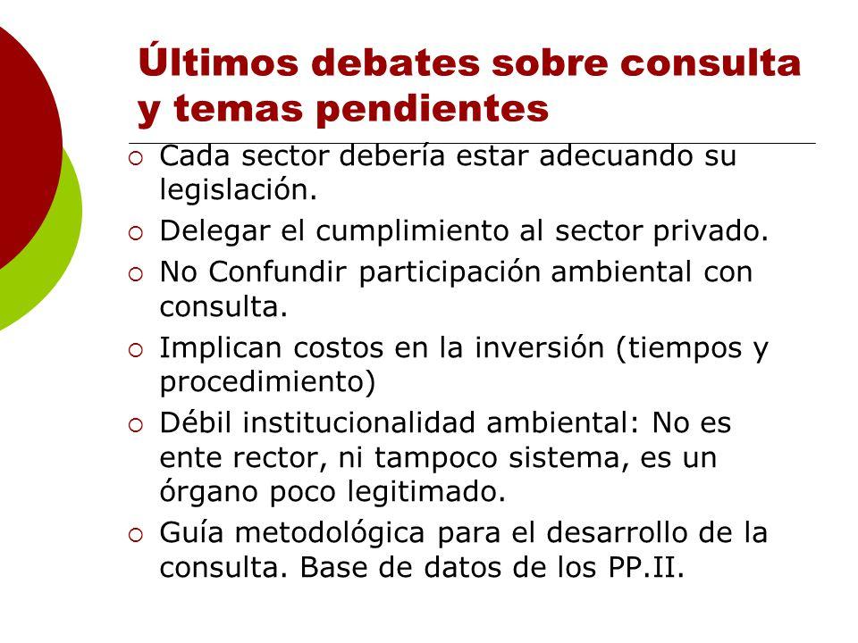 Últimos debates sobre consulta y temas pendientes