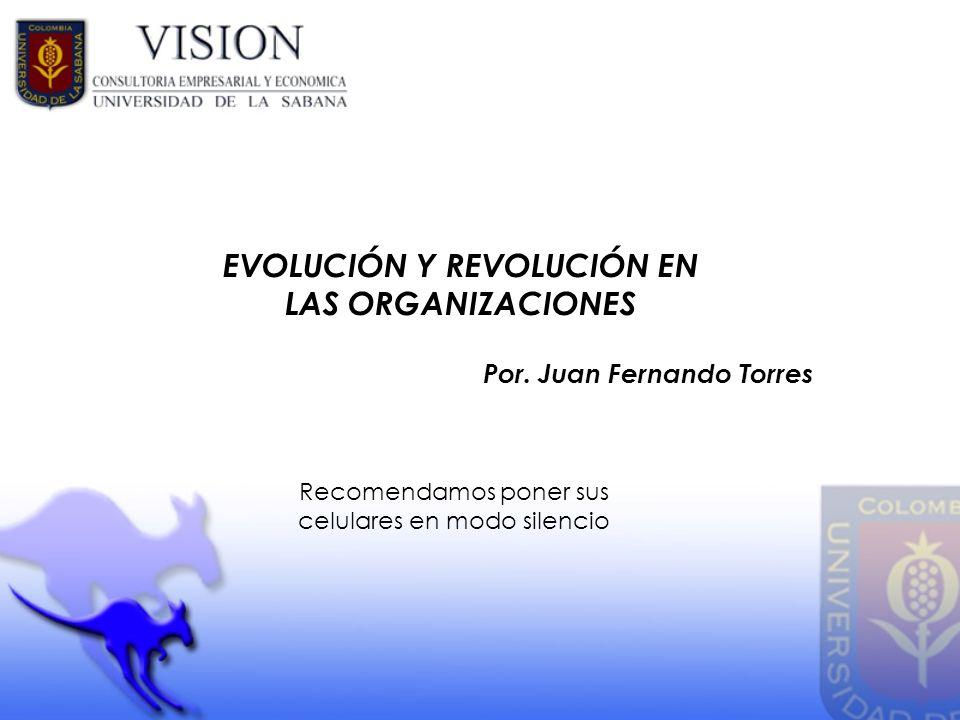 EVOLUCIÓN Y REVOLUCIÓN EN LAS ORGANIZACIONES Por. Juan Fernando Torres