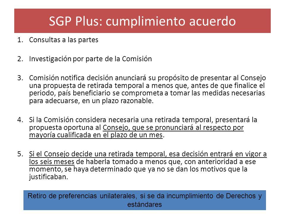 SGP Plus: cumplimiento acuerdo