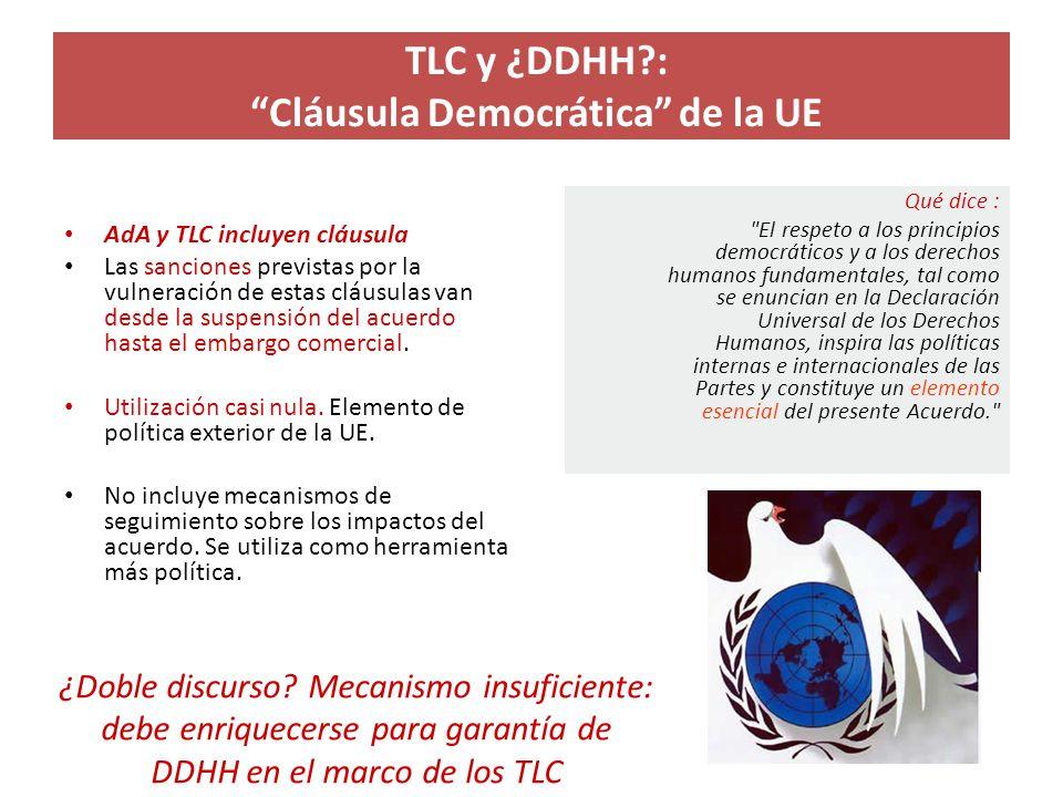 TLC y ¿DDHH : Cláusula Democrática de la UE