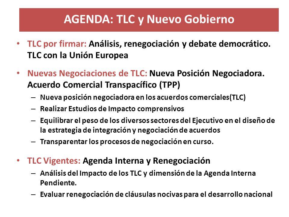 AGENDA: TLC y Nuevo Gobierno